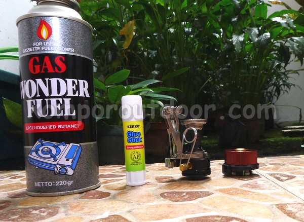 kompor gas mini ukuran kantong camping backpacking hiking